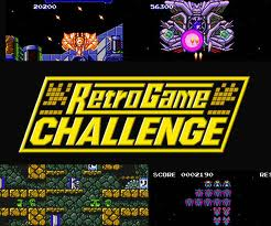 Promotional image for the DS game Retro Game Challenge.