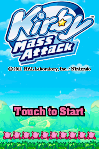 Kirby Mass Attack Title Screen