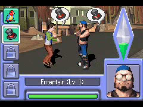 Review 036 the sims 2 gba showtime nekojonez 39 s for Online games similar to sims