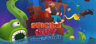 suicide guy sleeping deeply logo