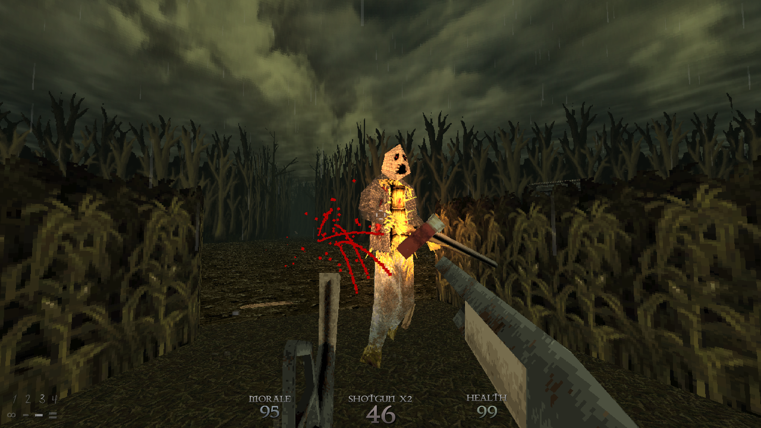950313-dusk-windows-screenshot-fighting-an-enemy-in-the-fields-early